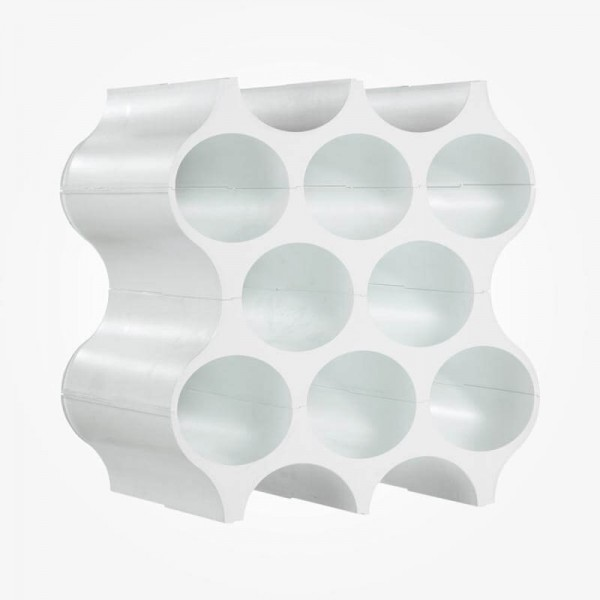 Koziol SET UP Bottle Rack set of 4 solid white