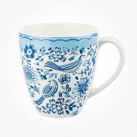 Churchill Caravan Penrose Hill Woodcut Birds Blue Mug