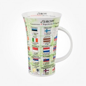 Dunoon Glencoe Europe Flags Mug