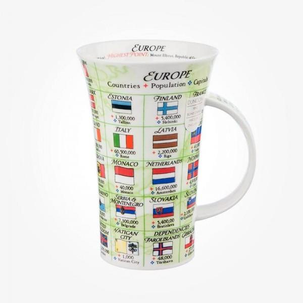 Dunoon Glencoe Europe Flags Mug