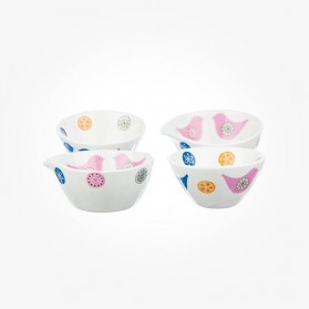 Love Birds Dip Bowl Set of 4