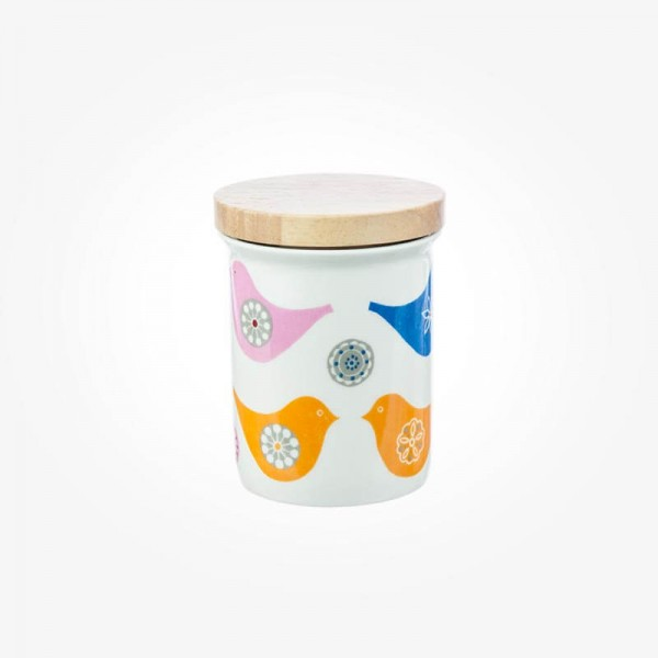 Love Birds Spice Airtight Jar with Wooden Lid