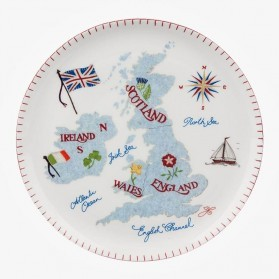 ECP design Large Plate British Isles 27cm