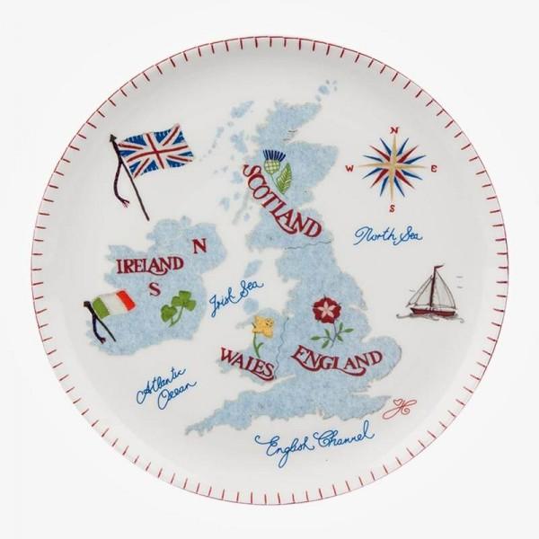 ECP design Large Plate British Isles 27cm