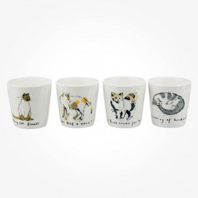 Ruth Jackson Cats set of 4 egg cups