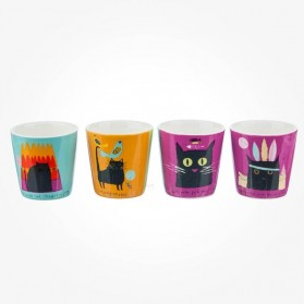 Thinking Cats set of 4 egg cups J. Ormes