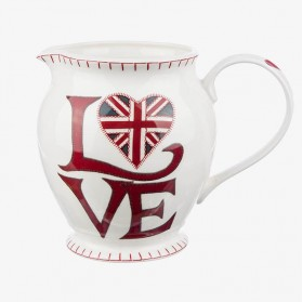 Large Jug Love Union Jack - water jug