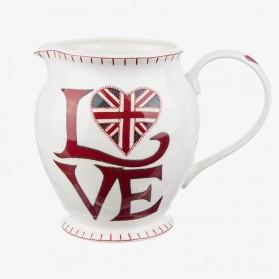 Large Jug Love Union Jack - water jug