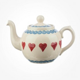 ECP Design Teapot 4 cups Red Hearts Alex Dufort
