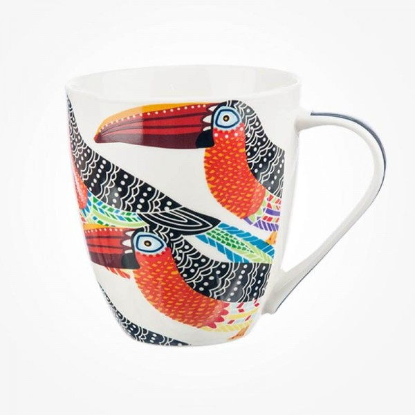 Queens Couture Paradise Birds Toucans Mug