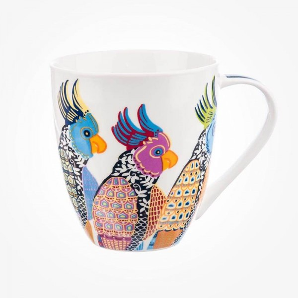 Queens Couture Paradise Birds Parakeets Crush Mug