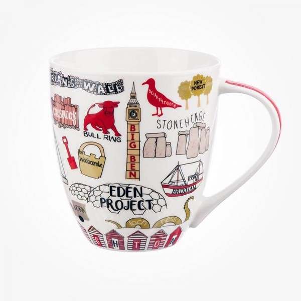 James Sadler Sights of Britain Crush Mug