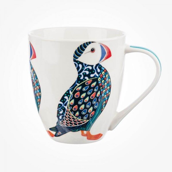 Queens Couture Paradise Birds Puffin Mug