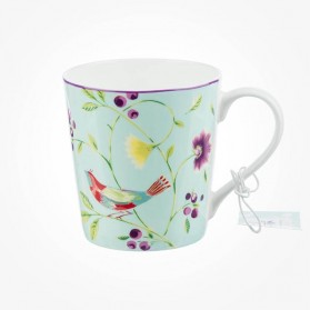 Collier Campbell Chestnut Mug Singing Birds Blue