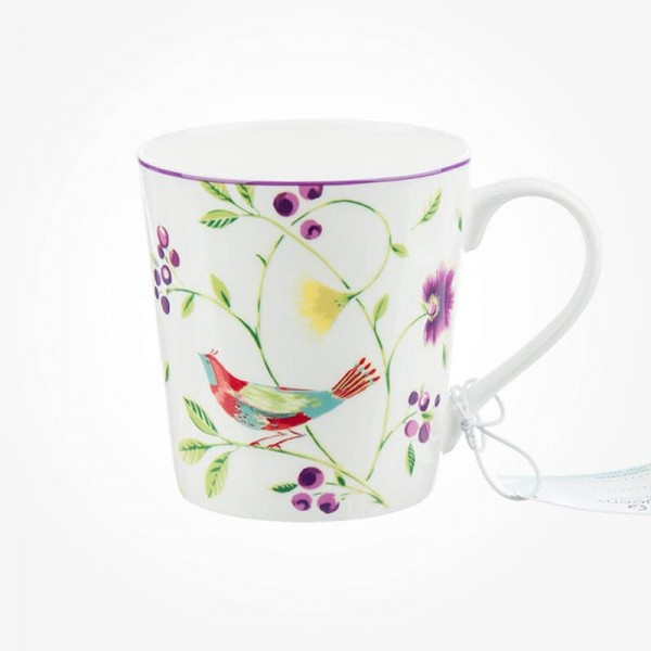 Collier Campbell Chestnut Mug Singing Birds White
