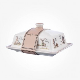 Country Pursuits Butter Dish with Lid