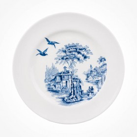 Aynsley Archive Blue Sweet Plate 2 Flight