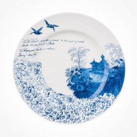 Aynsley Archive Blue Sweet Plate 4 Pavillion