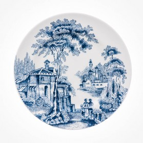 Aynsley Archive Blue Sweet Plate 4 VISTA