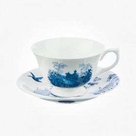 Aynsley Archive Blue Teacup & Saucer