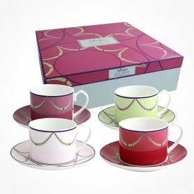 Garland 4 X Teacup and saucers Gift Box Set