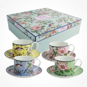 Pembroke 4 X Teacups and Saucers gift box