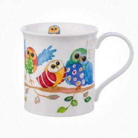 Dunoon Mugs Bute Wise Owls BRANCH