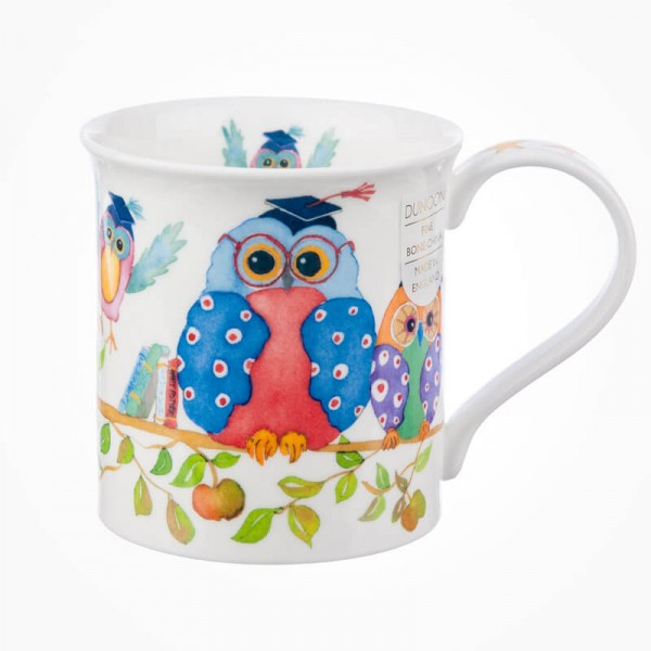 Dunoon Mugs Bute Wise Owls Mortar Boards