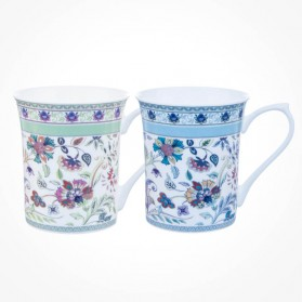 Queens Classic Royal Antique Floral Mugs