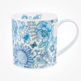 Dunoon Orkney Fleur Blue Mug