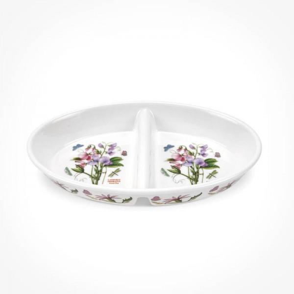 "Botanic Garden Divided Dish 11"" - Sweet Pea"
