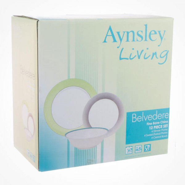 Aynsley Belvedere 12 pcs gift box set
