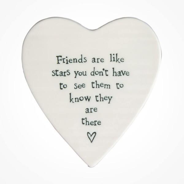 Heart Coaster -Friends are Stars