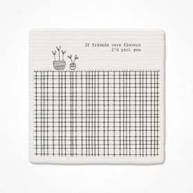 Square Coaster - If friends were flowers