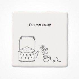 Square Coaster Sweet Enough East of India Gifts