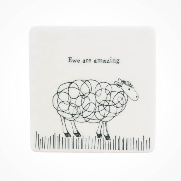 Square Coaster Sheep Ewe are Amazing