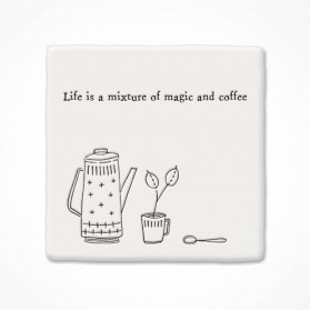 Square Coaster Magic and coffee