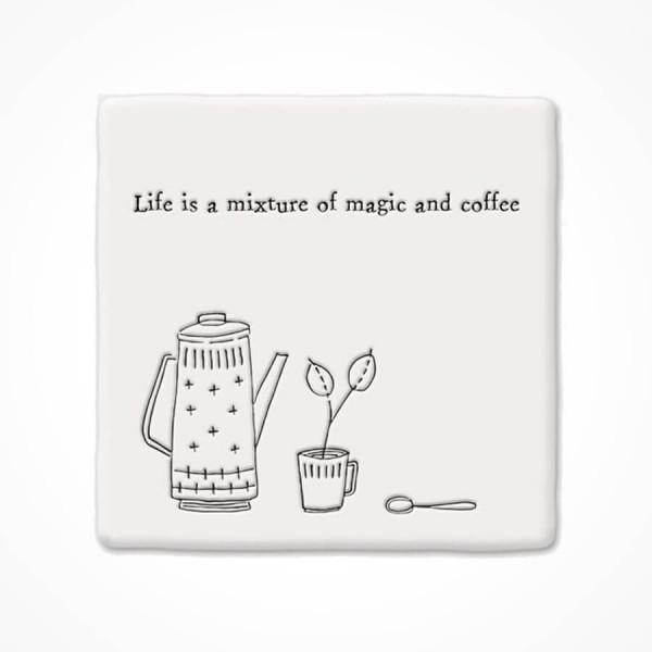 Square Coaster Magic and coffee