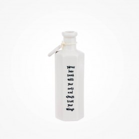 Hexagonal porcelain bottle-Never lose