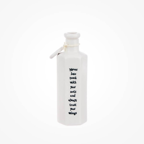 Hexagonal porcelain bottle-Never lose