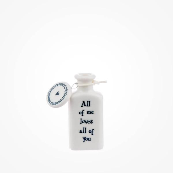 Flat porcelain bottle-All of me