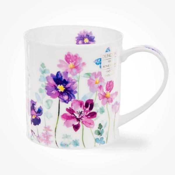 Dunoon Orkney Floral Shimmer Pink Mug