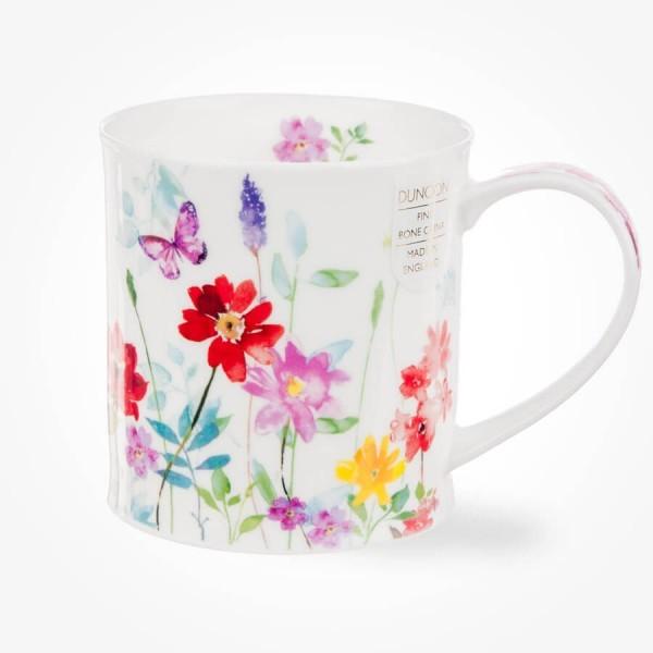 Dunoon Orkney Floral Shimmer Red Mug