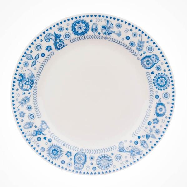 Caravan Penzance Border print Dinner Plate 26cm
