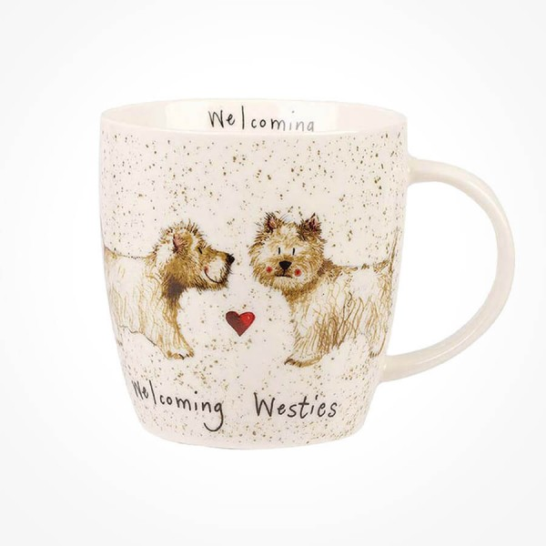 Alex Clark Mug Welcoming Westies