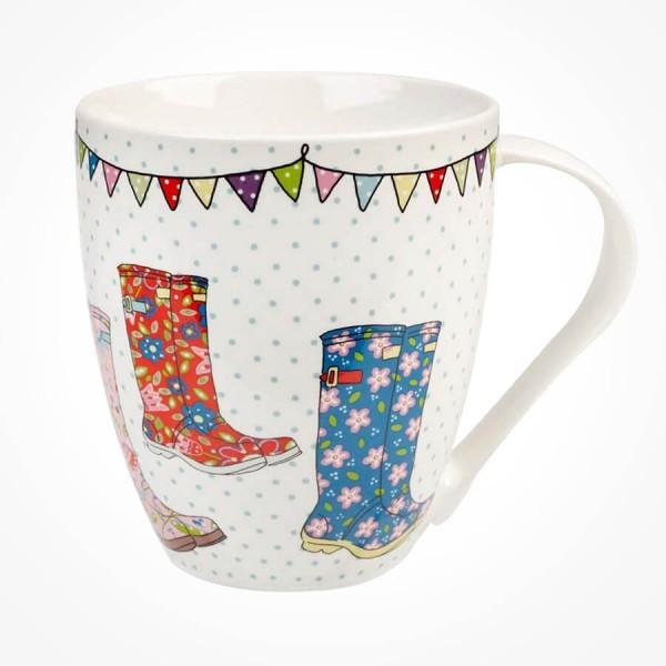 Caravan Trail Festival Wellies Crush mug