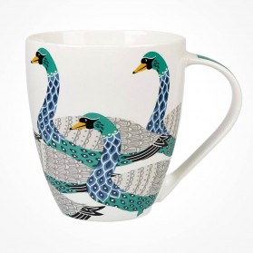 Queens Couture Paradise Birds Swans Crush mug