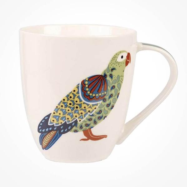 Queens Couture Paradise Birds Parrots Crush mug