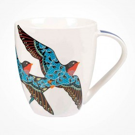 Queens Couture Paradise Birds Swallows Crush mug
