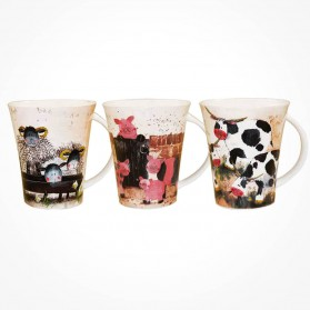 Alex Clark Farmyard mugs